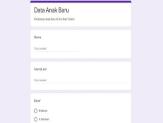 Membuat formulir di Google form