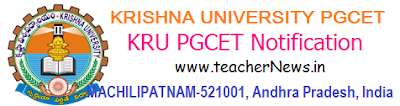 Krishna University PGCET 2019 Notification KRUCET 2019 PG Admission Test Online Apply at krudoa.in