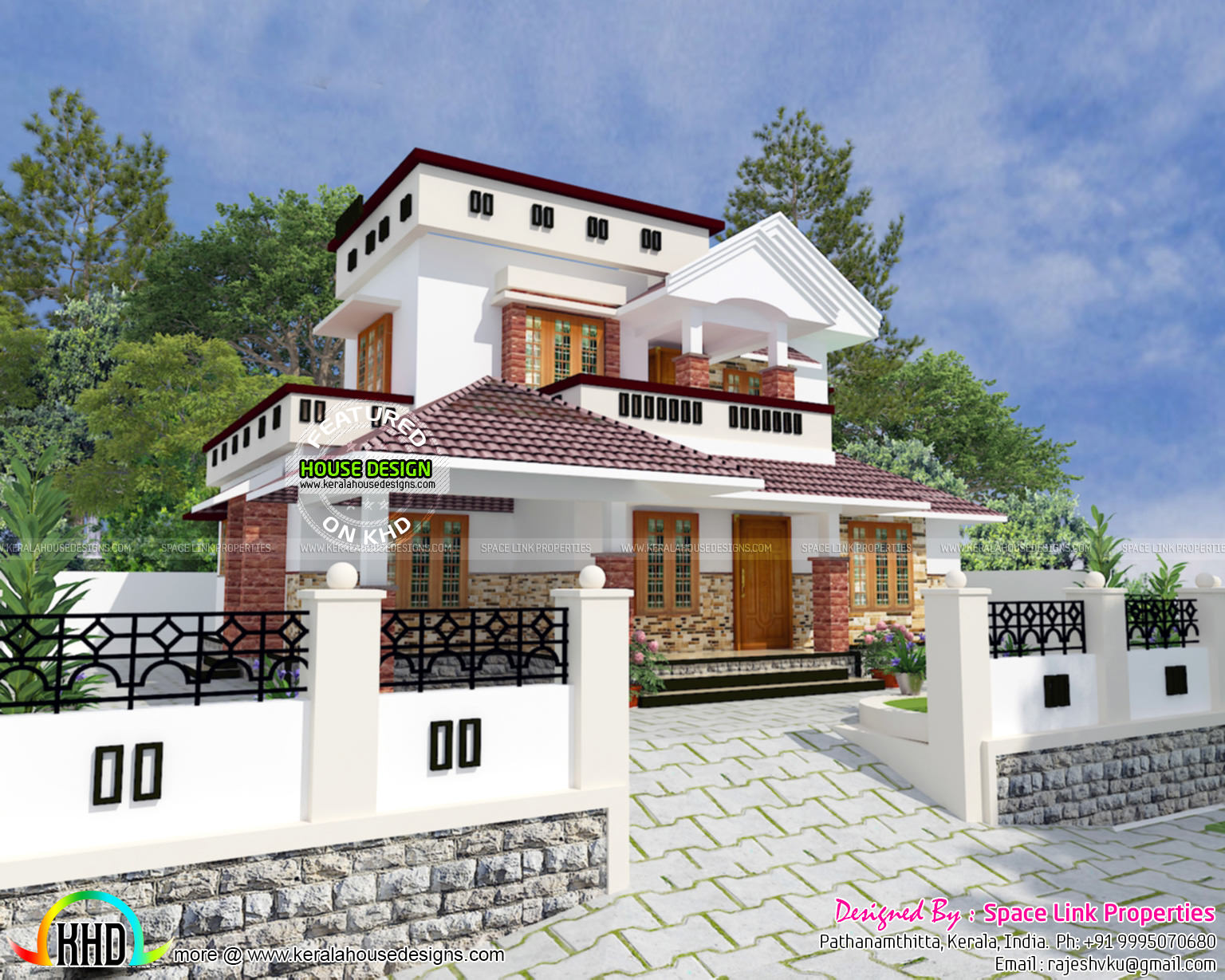 1600 sq ft cute house plan kerala home design and floor for Cute house design