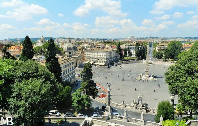 piazza del popolo roma in un giorno