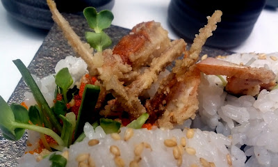 Soft Shell Crab Roll at Sushi Zen in New York, NY - Photo by Taste As You Go