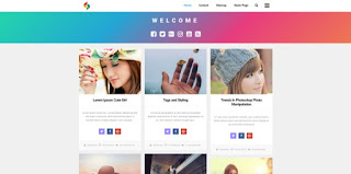 Lycoris New blogger template 2018