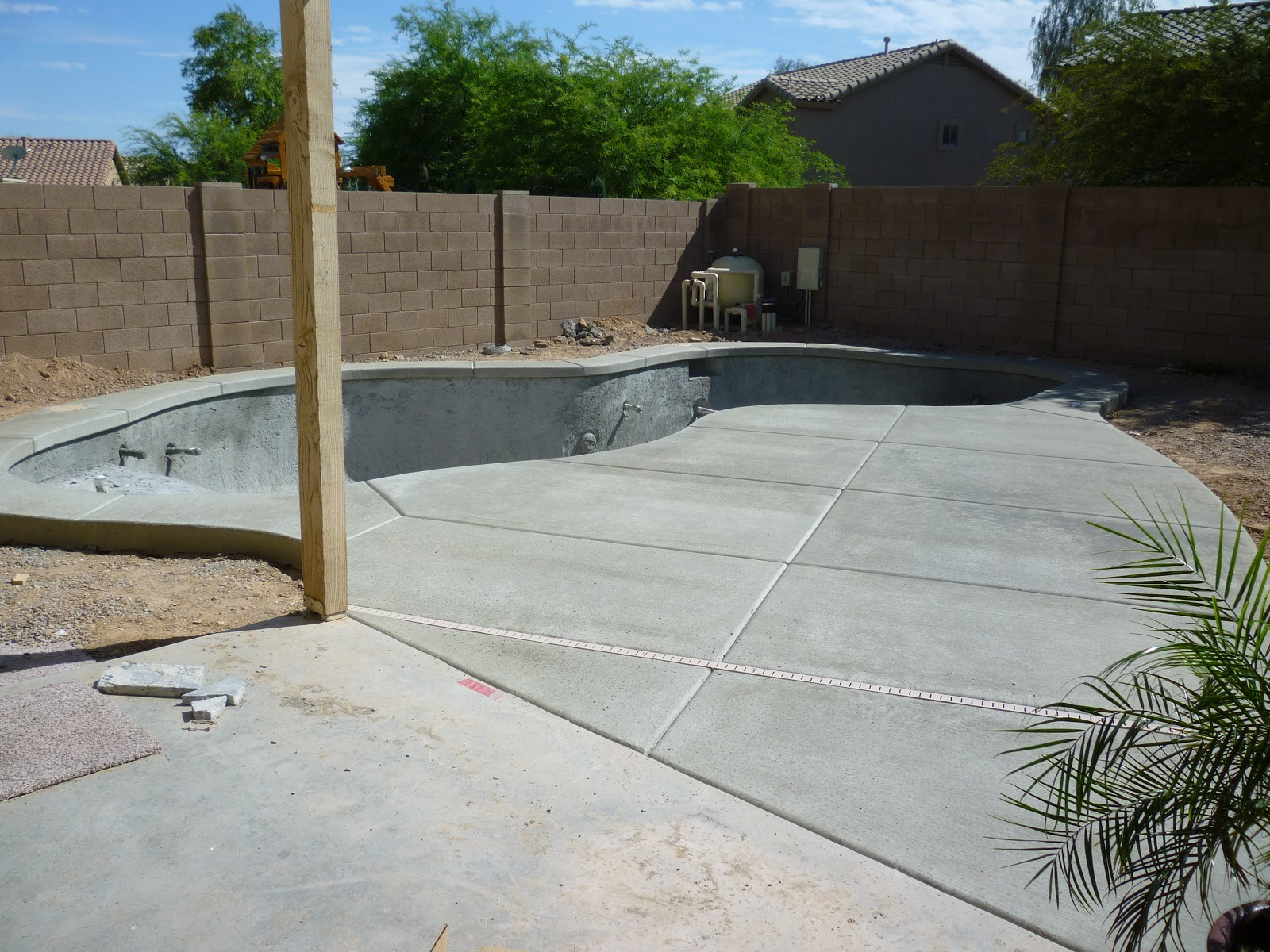 A stroll thru life pool update one more week to finish - How soon can you swim after plastering pool ...