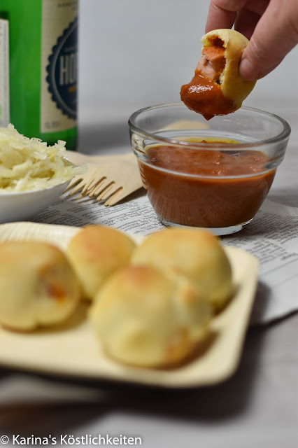 Currywurst Balls mit Dip