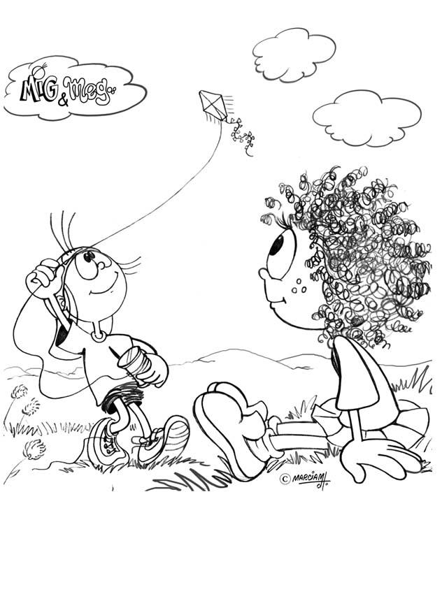 Desenhos De Mig E Meg Para Colorir Pintar Imprimir Biblicos