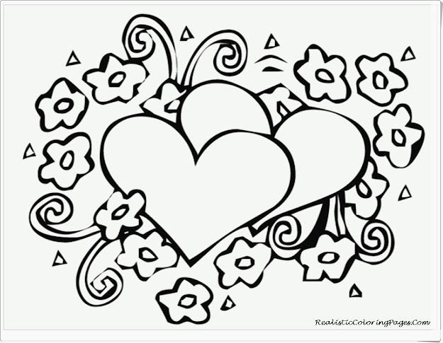 Heart Printable Coloring Pages Printable Full Size