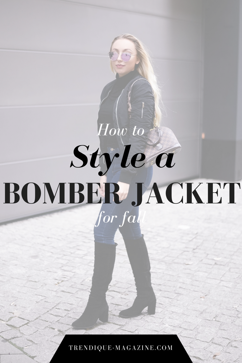 how to style a bomber jacket for fall