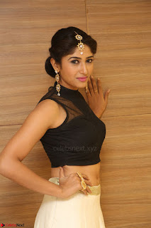 Roshni Prakash in a Sleeveless Crop Top and Long Cream Ethnic Skirt 035.JPG