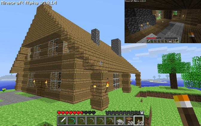 Minecraft Ideas Log Cabin