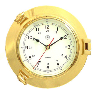 Brass Porthole Tide Time Clock by Bey Berk, On Sale Now!