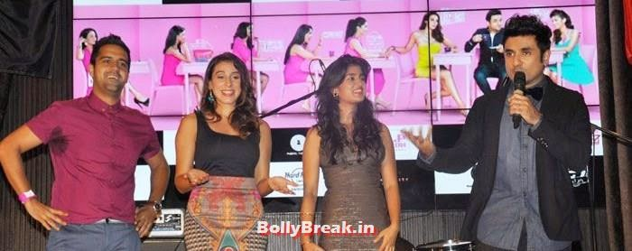 Kavi Shastri, Anindita Nayar, Vega Tamotia, Vir Das, Vir Das, Anindita Nayar, Shivangi R Kashyap at 'Amit Sahni Ki List' Music Launch