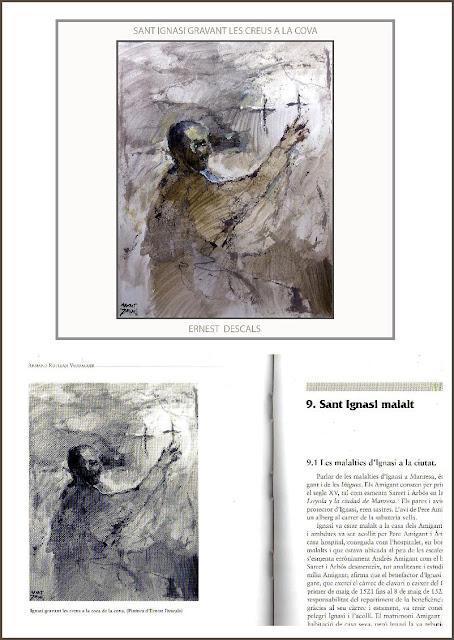 SANT IGNASI-LOIOLA-ART-PINTURA-LLIBRE-COVA-CREUS-SAN IGNACIO DE LOYOLA-CUEVA-CRUCES-PINTURA-LIBRO-ARTISTA-PINTOR-ERNEST DESCALS