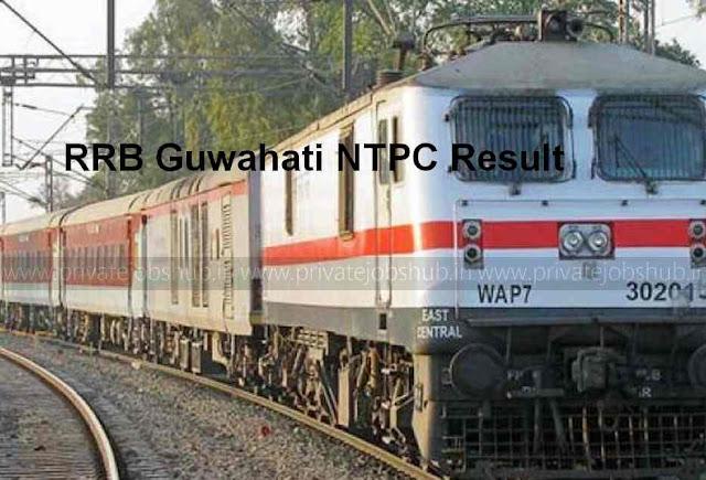 RRB Guwahati NTPC Result