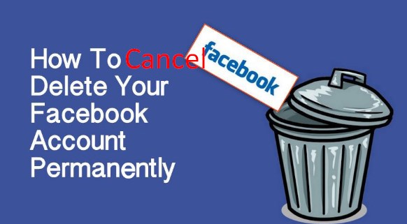 How to cancel delete facebook account