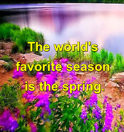 The world's favorite season is the spring. All things seem possible in May.  -Edwin Way Teale