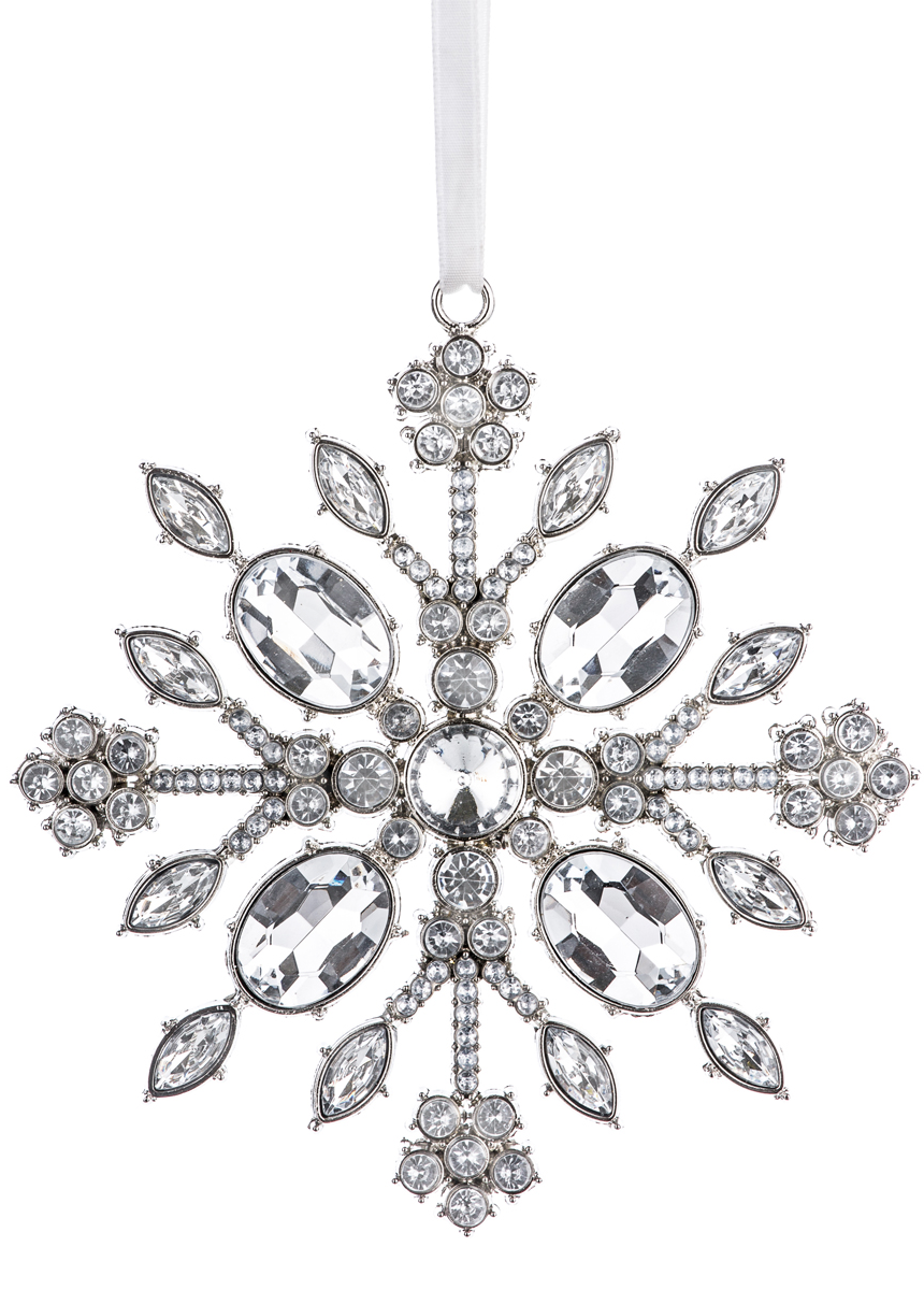 BOWRING SNOWFLAKE JEWEL ORNAMENT