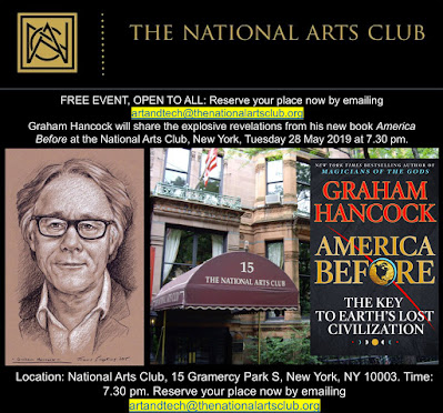 The National Arts Club. Graham Hancock. America Before. Portrait by Travis Simpkins