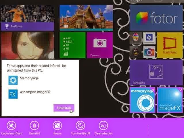 Cara Uninstall Aplikasi Windows Store di Windows 8.1