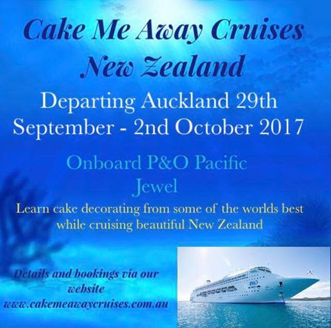 Cake decorating and cruising on the Pacific Jewel ship with P&O Cruises... what could be better