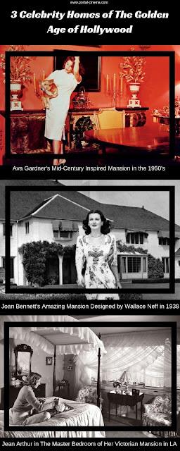 3 Casas de Celebridades da Era Dourada de Hollywood