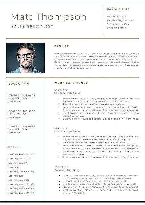 Linkedin Resume Template.Resume Template Linkedin 2019 Resume Templates