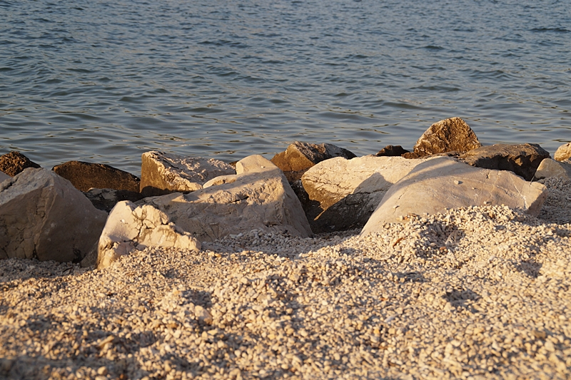 croatian rocks at the mediterranean sea in our summer vacation