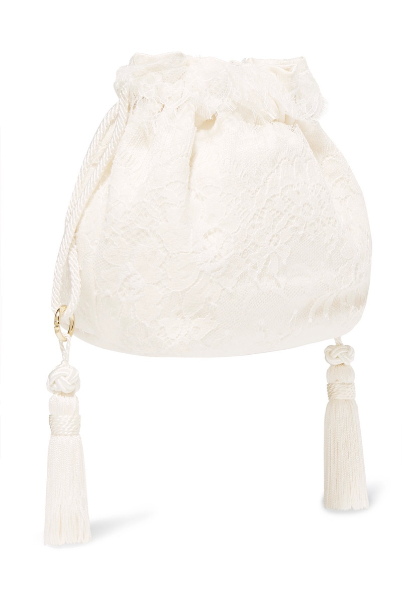 Etro Tasseled Lace Silk-Jacquard Bucket Bag