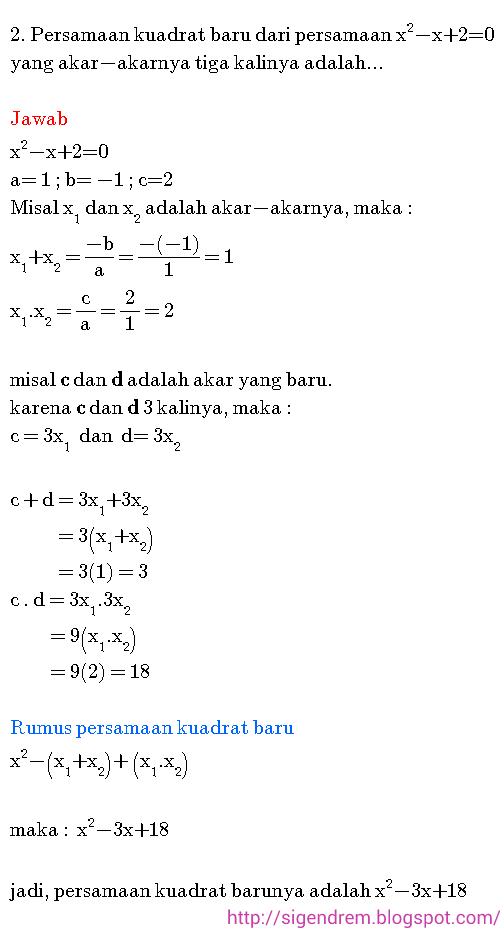 Contoh Soal Persamaan Kuadrat : contoh, persamaan, kuadrat, Contoh, Pembahasan, Persamaan, Kuadrat