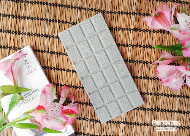 Шоколад Okasi с черным кунжутом - отзыв