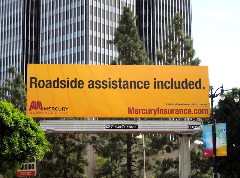 Mercury Roadside assistance billboard