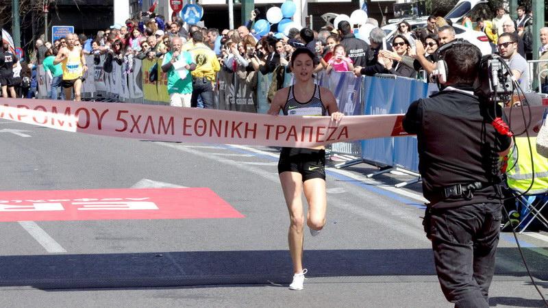 Η Καρακατσάνη του Εθνικού Αλεξανδρούπολης νικήτρια στα 5 χλμ του Ημιμαραθωνίου Αθηνών