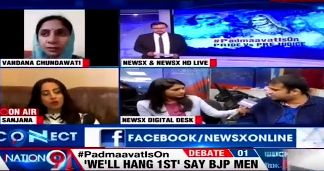 Participating in a discussion on News X (@NewsX) about Supreme Court's judgement on #Padmaavat