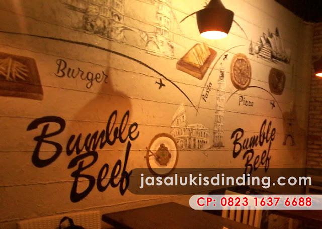 Lukisan dinding café