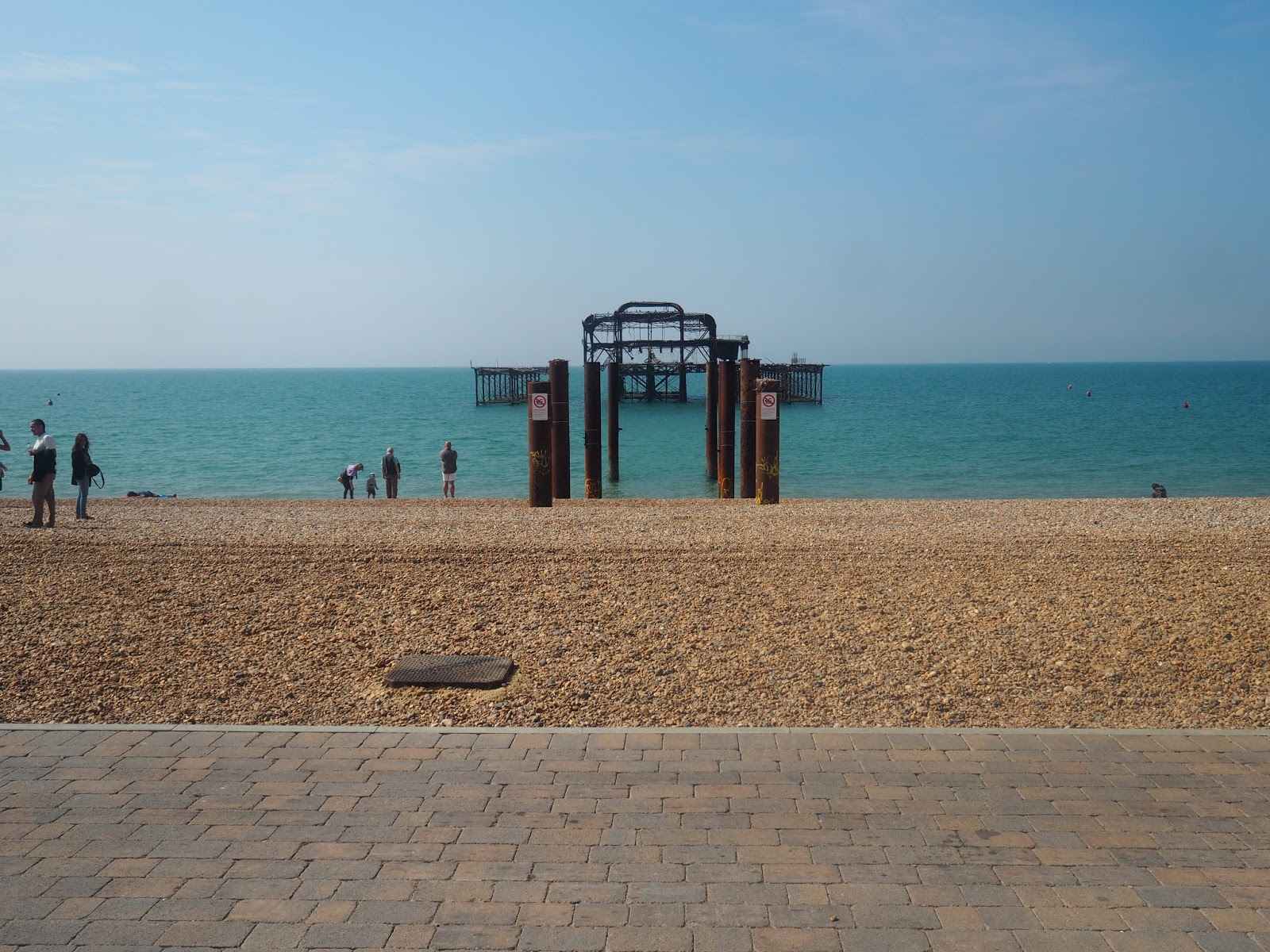Brighton west pier remains
