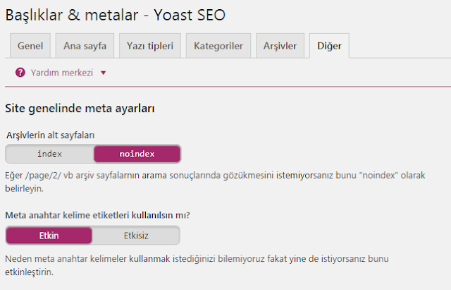 Yoast Seo WordPress Ayaları 14
