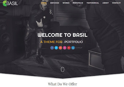 Basil Blogger Template