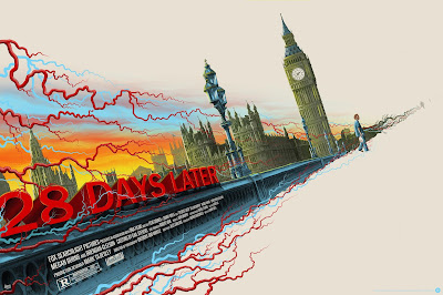 28 Days Later Movie Poster Regular Edition Screen Print by Mike Saputo x Grey Matter Art
