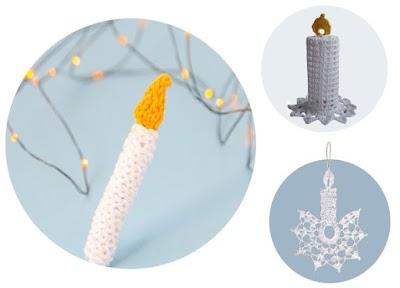 Velas 3 formas diferentes de tejerlas para Navidad