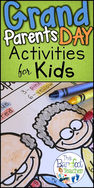 Check out these adorable Grandparents Day activities for your Preschool, Kindergarten, and even First Grade students. They'll go perfect with the other arts and crafts you have planned for your students. Included are Love Notes, Color-by-Number, phonics work, mazes, color sheet, a card to make, upper and lower alphabet practice, number writing, and more!
