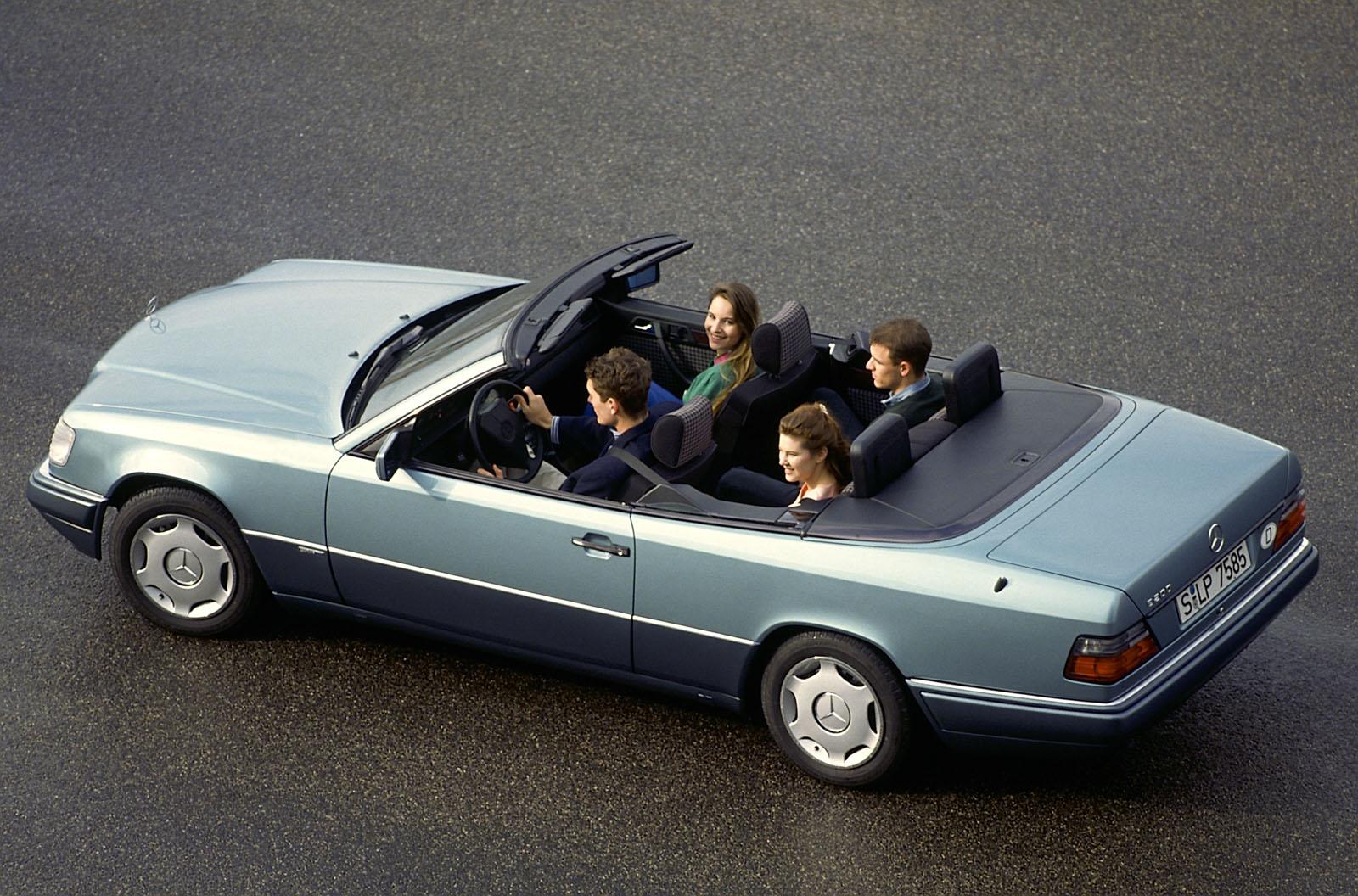 mercedes  class cabrio celebrates   birthday carscoopscom