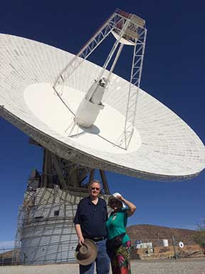 Palmia Resident Astronomers tour Goldstone Tracking Station