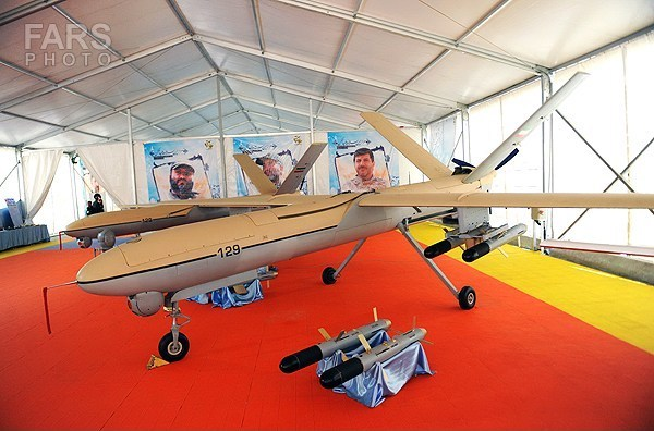 Image Attribute: Iranian Shahed 129 UCAV (first generation) at an IRGC-ASF arms expo 2014 / Source: FARS News Agency (Creative Commons Attribution 4.0 International License)