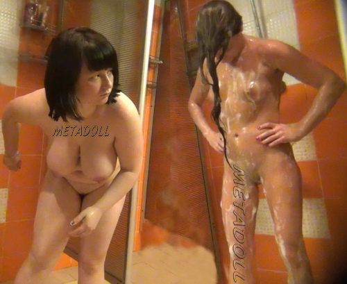 Shower Spy 313-319 (Hidden cam in shower room with many nude girls)