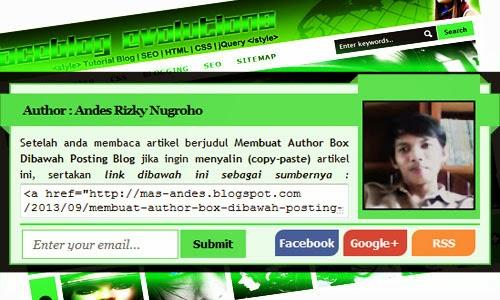 Cara Membuat Author Box Dibawah Posting Blog