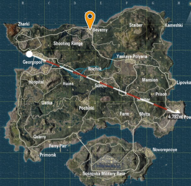 best place to drop in pubg