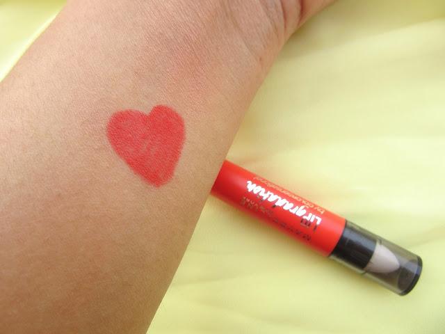 Maybelline Color Sensational Lip Gradation Ogange1 Review, Swatch, FOTD