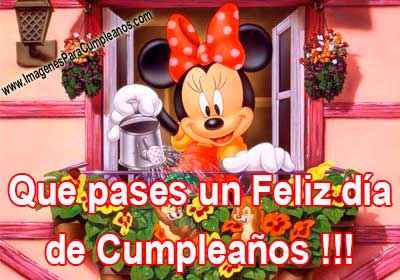 Feliz Cumpleaños Minnie Mouse