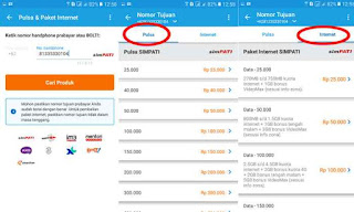 proses membeli data dan pulsa internet di traveloka