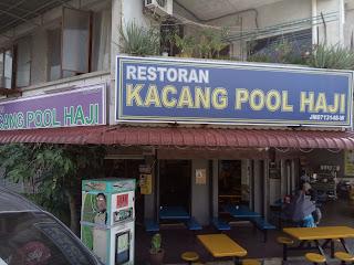 Kacang Pool Haji, directly infront of FoonYew 3 school