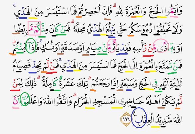 Tajwid Surat Al Baqarah Ayat 196